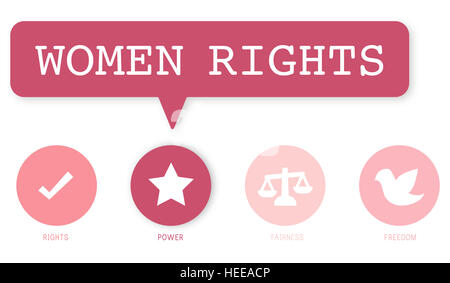 Women Rights Equality Opportunities Fairness Feminism Concept - Stock Photo