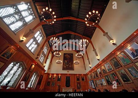 Queens University Belfast Halls With Paintings Northern Ireland UK