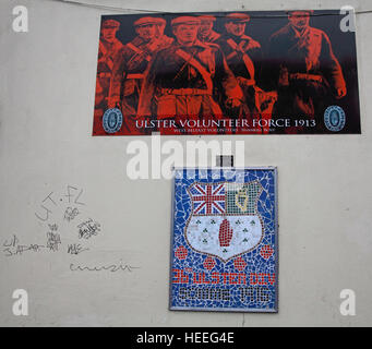 Belfast Unionist, Loyalist Murals,UVF,Ulster Volunteer Force,1913 - Stock Photo
