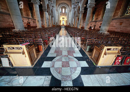 St Annes Belfast Cathedral Interior,pano, - Stock Photo