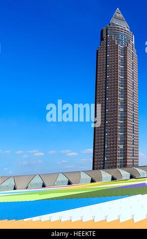 The Messeturm in Frankfurt am Main, Germany - Stock Photo