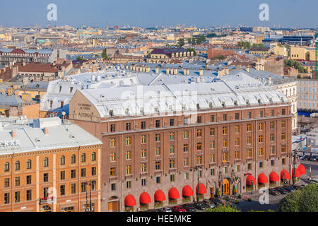 SAINT PETERSBURG, RUSSIA - JULY 26, 2014:  The view from the observation deck of St. Isaac's Cathedral to the famous - Stock Photo