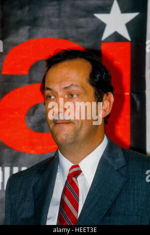 Chicago, Illinois, USA, September, 1986  Bill Bradley Democrat from New Jersey makes an appearance at Senator Adlai - Stock Photo
