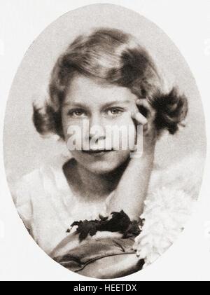 Princess Elizabeth, future Queen Elizabeth II, seen here aged nine.  Elizabeth II, born 1926.  Queen of the United - Stock Photo