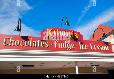 Kilwins Ice Cream Shop in Gatlinburg Tennessee - Stock Photo