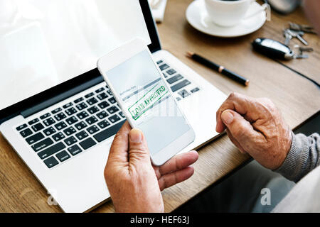 Loan Approved Application Form Concept - Stock Photo