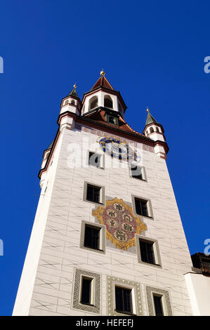 Old town hall (Altes Rathaus), located at Marienplatz square in Munich, Germany - Stock Photo