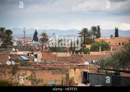 View over the city of Marrakesh in Morocco - Stock Photo