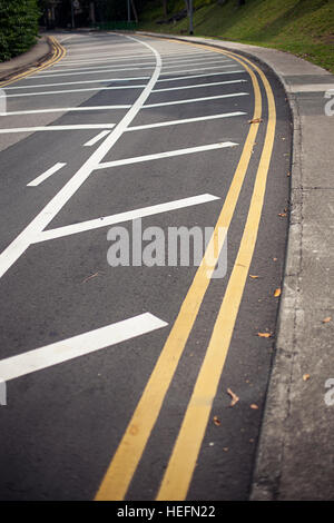 Background with tire marks on road - Stock Photo