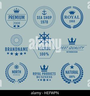 Vector illustration set of logos - Stock Photo