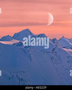 Austria, Tyrol, Pitztal (valley), panorama from the Hintere Brunnenkogel mountain - Stock Photo