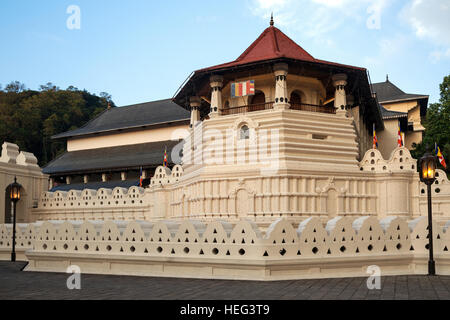 Temple of the Sacred Tooth Relic, Kandy, Central Province, Sri Lanka - Stock Photo