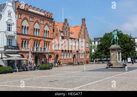 Torvet, market in Esbjerg, pedestrian area, Jutland, Denmark - Stock Photo