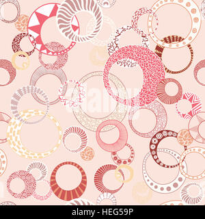 Geometric Circles Seamless Repeating Pattern - Stock Photo