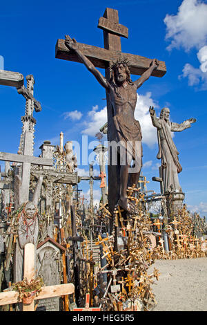 The Hill of Crosses in northern Lithuania - Stock Photo