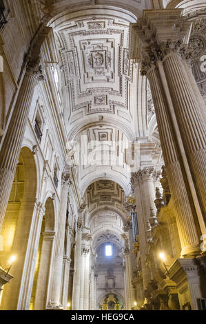 Jaen cathedral interior. Jaén, Andalusia, Spain - Stock Photo