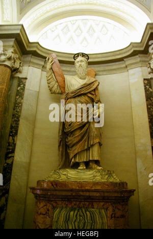 A holy prophet at San Pietro Dome - Stock Photo