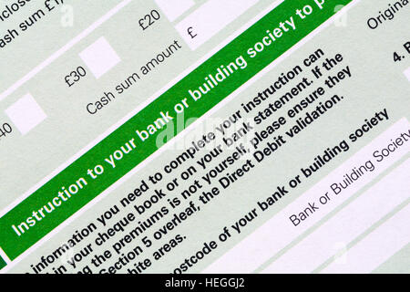 Direct Debit Form Stock Photo Royalty Free Image   Alamy