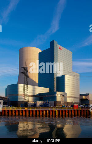 Germany, the E.on hard coal power station Datteln 4, Dortmund-Ems-Canal. - Stock Photo