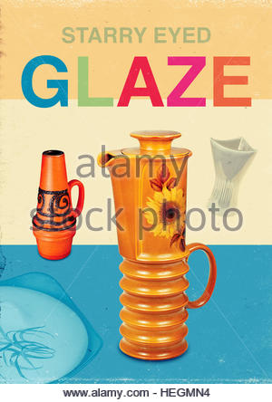 Starry eyed glaze kitsch mid century retro vintage lifestyle - Stock Photo