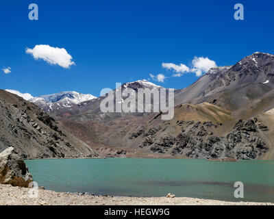 The Agua Negra Pass (Spanish: Paso de Agua Negra) is a pass over the Andes mountains - Stock Photo