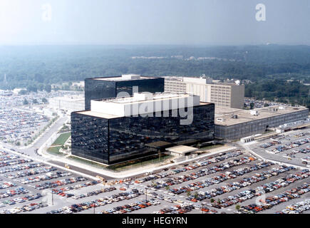 NATIONAL SECURITY AGENCY (NSA)  of the USA headquarters at Fort Meade, Maryland. Photo NSA - Stock Photo