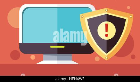 Protection software design flat concept. License driver, software development icon, security license program utilities, - Stock Photo