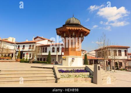 Historical Hamamonu  square in capital city of Turkey - Stock Photo