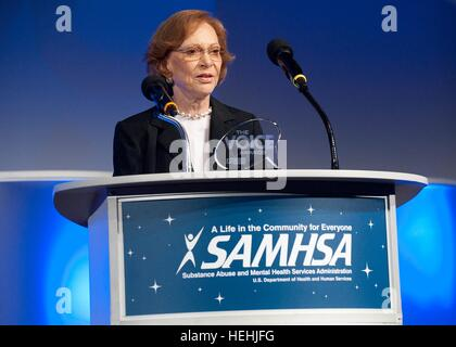 Former U.S. First Lady Rosalynn Carter receives the Substance Abuse and Mental Health Services Administration (SAMHSA) - Stock Photo