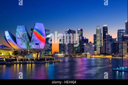 ArtScience museum in Marina Bay, Singapore - Stock Photo