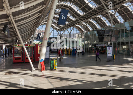 The terminus of Gare d'Orleans or Orleans railway station in France - Stock Photo