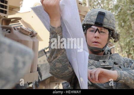 U.S. Army Spc. Nicole Willson from Hillsdale, Mich., a medic of Headquarters and Headquarters Company, 3rd Brigade - Stock Photo