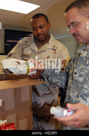 GUANTANAMO BAY, Cuba – Navy Petty Officer 3rd Class Willie Johnson, awards clerk for the Joint Personnel Service - Stock Photo