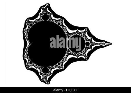 the mathematic fractal  mandelbrot set on white background - Stock Photo
