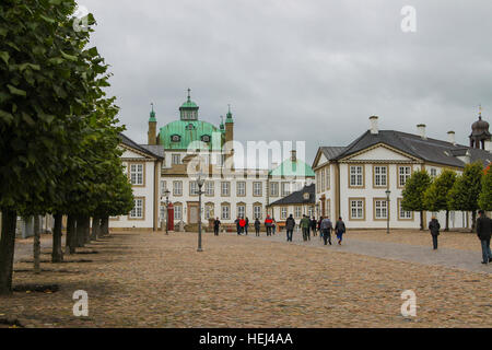 Copenhagen, Denmark - October 2, 2016: People visiting  the grounds of the Queen's summer palace, Fredensborg in - Stock Photo