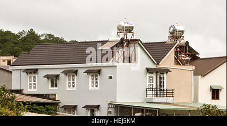 Water Tanks On The Roof Of A House In A Favela On The