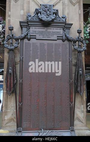 Glasgow Central Caledonian railway Great War memorial 1914-1918,Scotland,UK - Stock Photo
