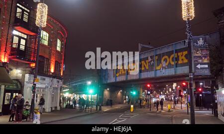 Camden Town at Night, North London, England, UK - Stock Photo