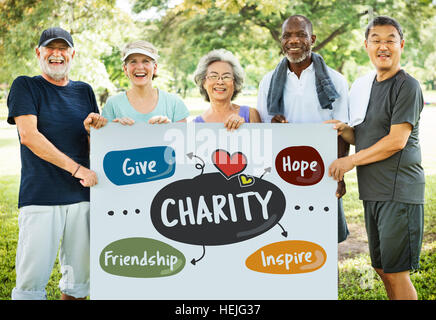 Charity Give Friendship Hope Inspire Aid Donate Concept - Stock Photo