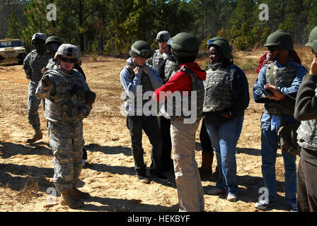 Capt. Joe Power, commander, B Battery, 3rd Battalion, 321st Field Artillery Regiment, 18th Fires Brigade (Airborne), - Stock Photo
