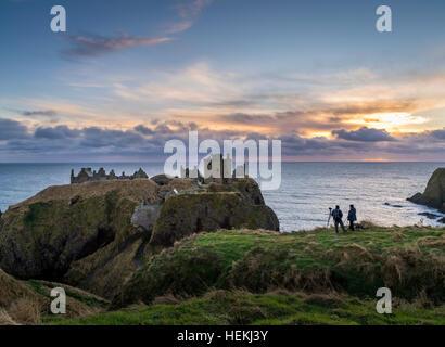 dunnottar castle near aberdeen in north east scotland is a
