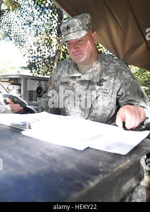 Soldiers from the Gate City-based 1032nd Transportation Company, 1030th Transportation Battalion, 329th Regional - Stock Photo