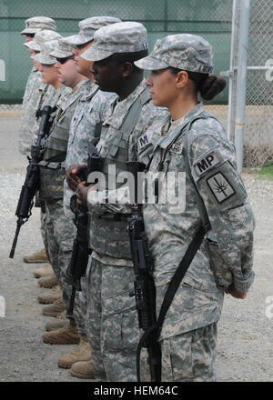 New York Army National Guard citizen-soldiers of the 107th Military Police Company completed a nearly one-year deployment - Stock Photo