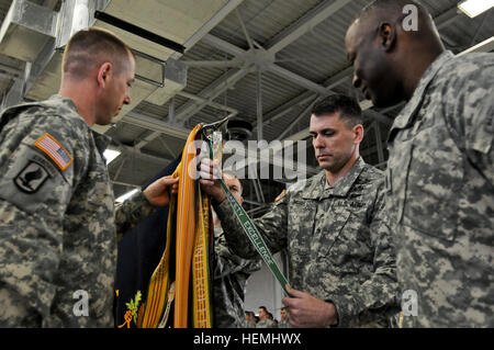 U.S. Army Col. Matthew McFarlane, the commander of the 4th Brigade Combat Team (Airborne), 25th Infantry Division, - Stock Photo
