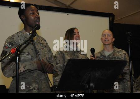Sgt. Tiara Jenkins, certified occupational therapist, 254th Medical Detachment; Senior Master Sgt. Angelia Fogle, - Stock Photo