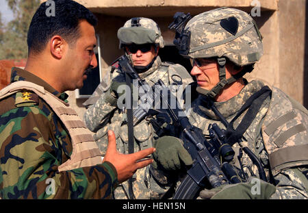 U.S. Army Capt. Thomas Melton, commander of Alpha Troop, 1st Squadron, 75th Cavalry Regiment, 2nd Brigade Combat - Stock Photo