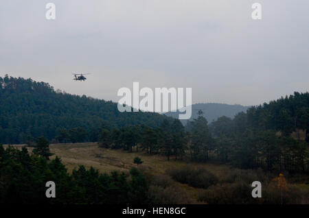 U.S. Army AH-64D Apache attack helicopters assigned to the 2nd Battalion, 159th Aviation Regiment (Attack Reconnaissance) - Stock Photo