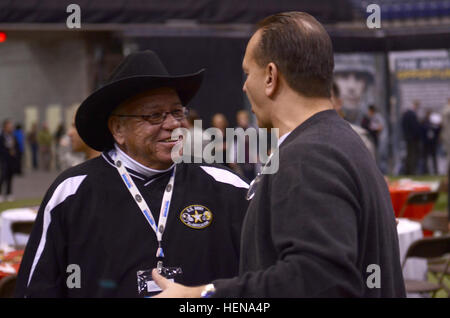 Coach Herman Boone, former American high school football coach, joins the 2014 U.S. Army All-American Bowl at the - Stock Photo