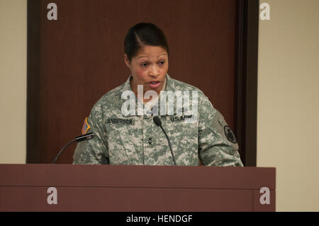 Maj. Gen. Marcia M. Anderson, the Deputy Chief, U.S. Army Reserve, was the guest speaker at a Women's History month - Stock Photo