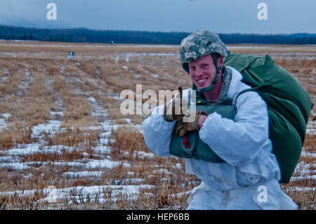 Capt. William Longwell, commander of U.S. Army Alaska's Headquarters Company, 4th Infantry Brigade Combat Team (Airborne), - Stock Photo